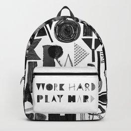 Work Hard Play Hard Backpack