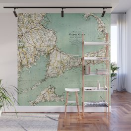 Cap Cod and Vicinity Map Wall Mural
