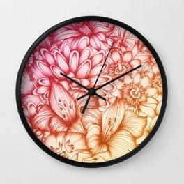 Tropical Flowers II Wall Clock