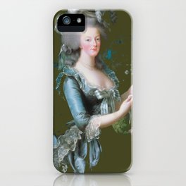 marie antoinette royal green forest tribute  iPhone Case