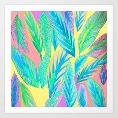 Rainbow Tropics Art Print