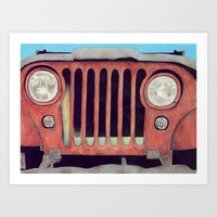jeep Art Prints featuring Jeep by Shannon Rutherford