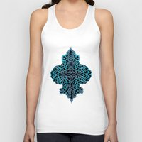 celtic Tank Tops featuring celtic blue by Ariadne
