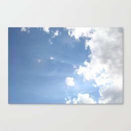 Clouds with Flare #1 Canvas Print
