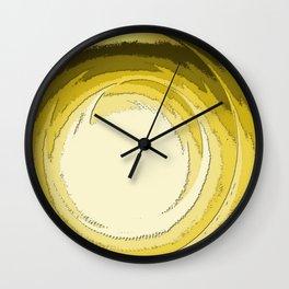 Vortex (gold) Wall Clock