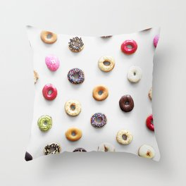 Colorful Donuts Throw Pillow