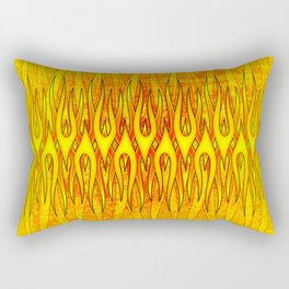 Flame On Abstract Tribal Fire Rectangular Pillow