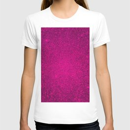 Garnet Pink Sparkling Jewels Pattern T-shirt
