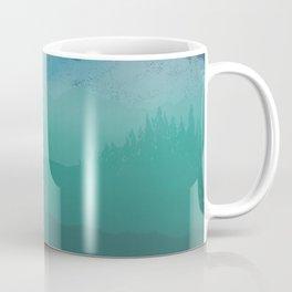 Ombre Mountainscape (Blue, Aqua) Coffee Mug