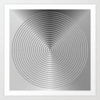 energetic black Art Print