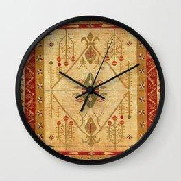 Bikaner Dhurrie Northwest Indian Cotton Kilim Print Wall Clock