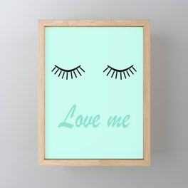 Love me 4 Framed Mini Art Print