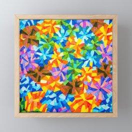 Exploded Pinwheels Framed Mini Art Print