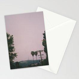 Rainy Hollywood - a rare sight Stationery Cards