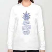 pineapples Long Sleeve T-shirts featuring Pineapples (Light/Sliced) by Norman Duenas