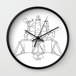 Lunar module Wall Clock