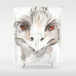 Who Emu? Shower Curtain