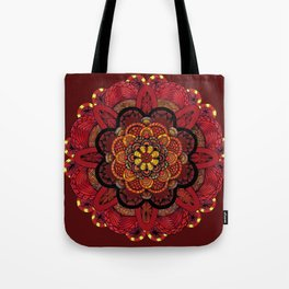 Chrysanthemum in lace Tote Bag