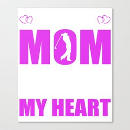 Golf Moms Full Heart Mothers Day T-Shirt Canvas Print