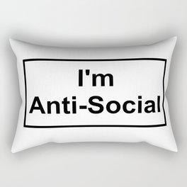 I'm Anti-Social Rectangular Pillow