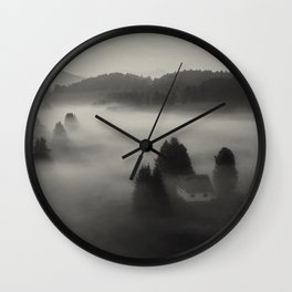 In the fog with you Wall Clock