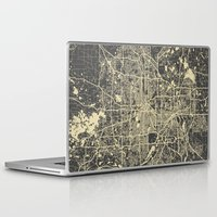 minneapolis Laptop & iPad Skins featuring Minneapolis Map by Map Map Maps