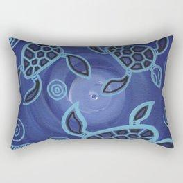 Aboriginal Art Authentic - Sea Turtles Rectangular Pillow