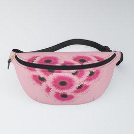 Heart Gerbera pink - Pink I Fanny Pack
