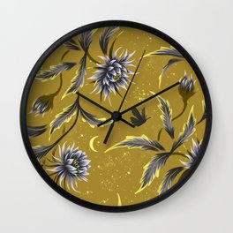 Queen of the Night - Gold Wall Clock