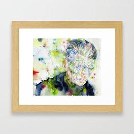 SAMUEL BECKETT - watercolor portrait Framed Art Print