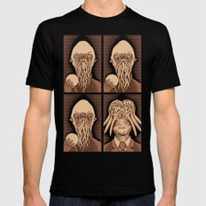Ood One Out - Dalek MEDIUM Black Mens Fitted Tee