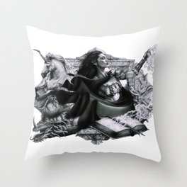 Swords, Beasts and Witches Throw Pillow