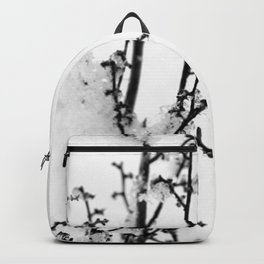 Plant Covered With Snow Backpack