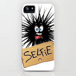Selfie Fun Cartoon Face iPhone Case