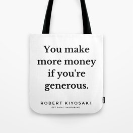 14 |  Robert Kiyosaki Quotes | 190824 Tote Bag