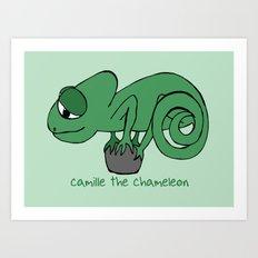 Camille the Chameleon Art Print