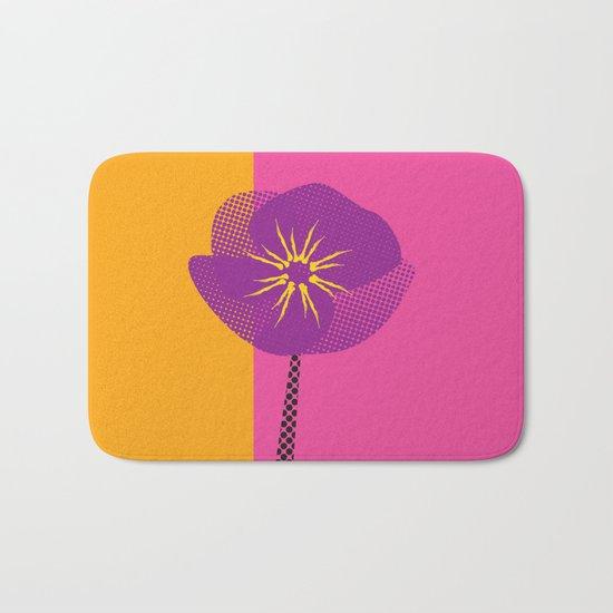 Flower - Abstract variation of pop art Bath Mat