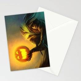 Headless Horseman: All Hallows' Eve Greetings Stationery Cards
