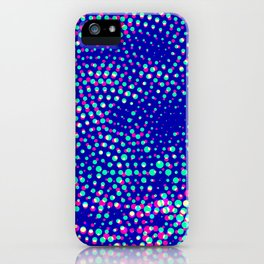 Simple blue halftone background iPhone Case