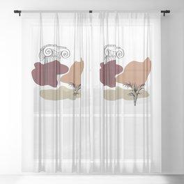 Antique Feeling #15 Sheer Curtain