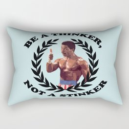 APOLLO CREED - BE A THINKER, NOT A STINKER Rectangular Pillow