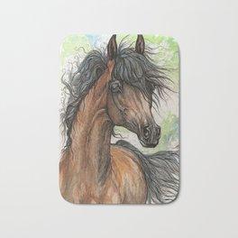 Bay arabian horse Bath Mat