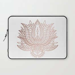Botanical Lotus - Rose Gold Laptop Sleeve