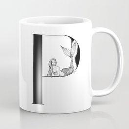 Mermaid Alphabet Series - P Coffee Mug