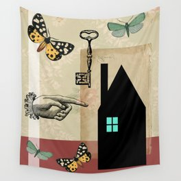 The House With The Turquoise Light On No.2 Wall Tapestry