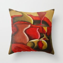 Warm Abstract Still Life Throw Pillow