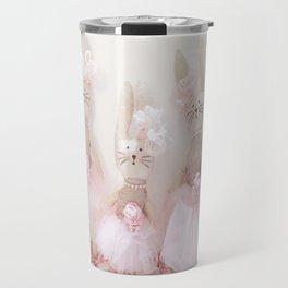 Bunnies Pretty in Pink Travel Mug