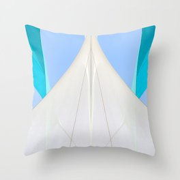 Abstract Sailcloth c2 Throw Pillow