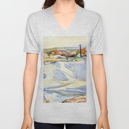 A Tarpaulin over a Dug-out, Ransart - Digital Remastered Edition Unisex V-Neck