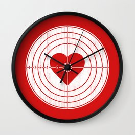 Hit Me in the Heart Wall Clock